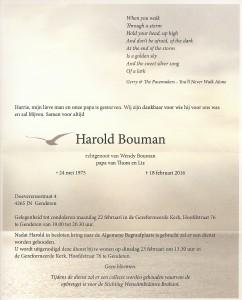 Rouwkaart Harold